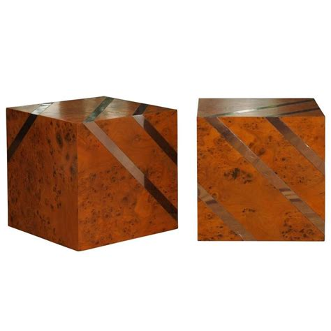 Onyx Cube Side Table pair of large onyx cube side tables at 1stdibs