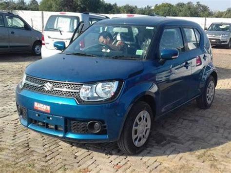 maruti suzuki dealers in india maruti suzuki ignis spotted at dealerships ahead of its