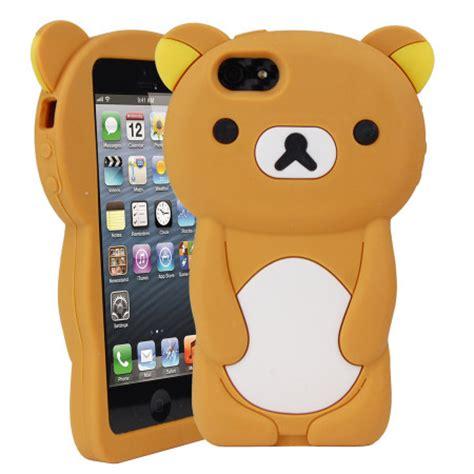 Soft Silikon Bergambar Karakter Iphone 5 5s teddybeer siliconen iphone 5s 5 mobilefun nl