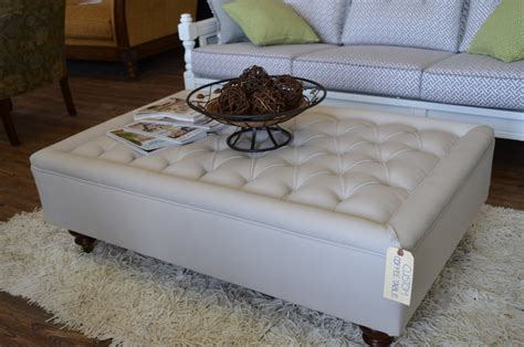 white large storage ottoman coffee table railing stairs