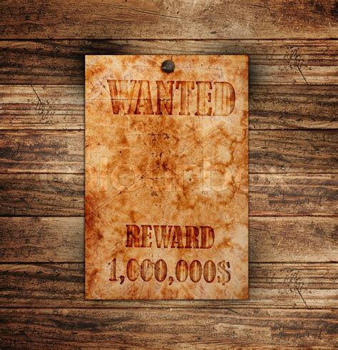 Wooden Sign Poster 1 vintage wanted poster on a wooden wall stock photo colourbox