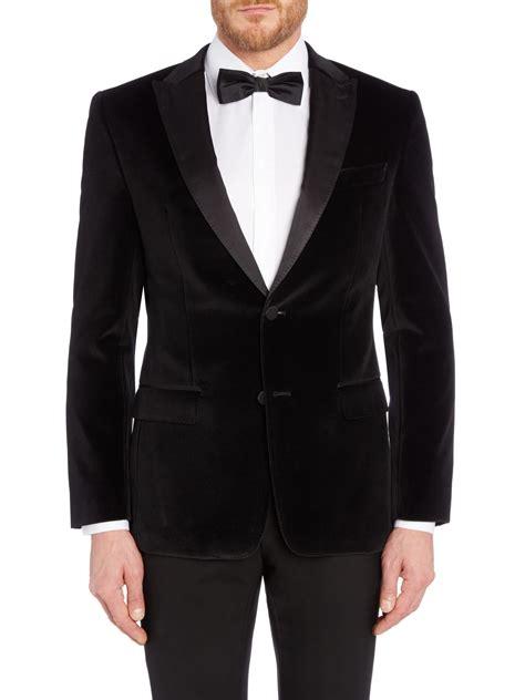 Vest Blazer Black hayford velvet dinner jacket blazer in black for lyst