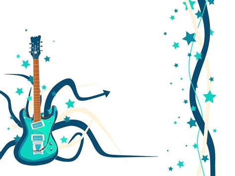 blue song guitar musical notes background blue clipart panda free