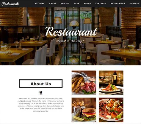 css layout restaurant 34 restaurant html5 website themes templates free