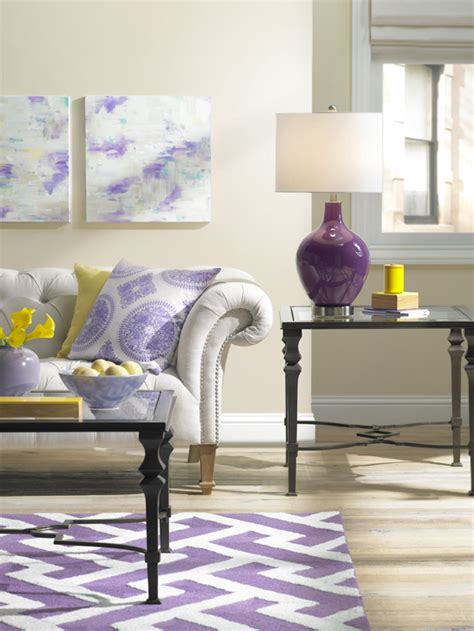 Yellow And Purple Living Room by 10 Living Rooms
