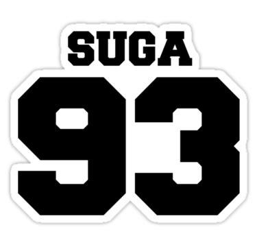 """bts bangtan boys suga football design black"" stickers by"