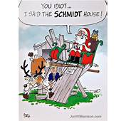 Vintage Christmas Humor  Funny Card Cartoons Pt