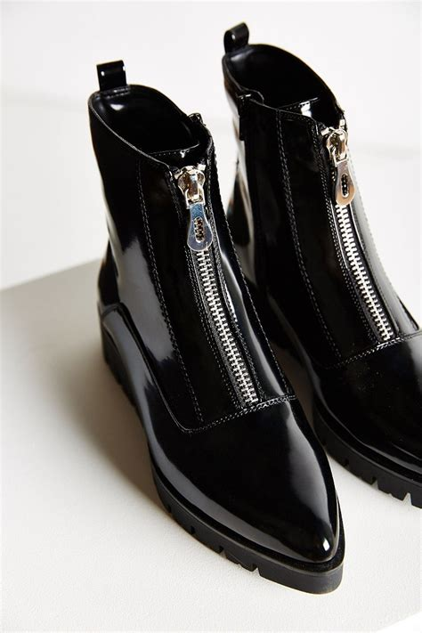 sixtyseven boots sixtyseven front zip boot in black lyst