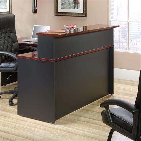 reception desk in classic cherry 419642 401448 kit