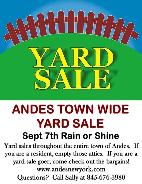 andes town wide yard sale watershed post
