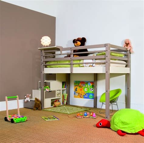 hochbett modern kinderzimmer hochbett modern funktional akzentwand
