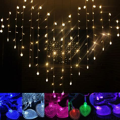indoor christmas curtain lights led heart shape curtain light indoor party christmas