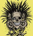Kaos Skull Flower vector t shirt design with skull stockt shirtdesigns