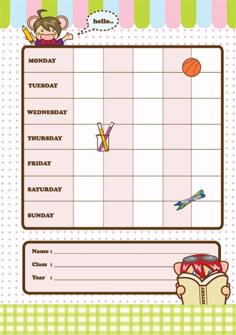 great school timetable templates 187 saxoprint blog uk