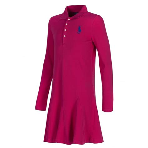 Gw 135 Polo Dress G ralph pink sleeve polo shirt dress