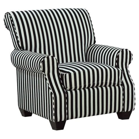 Black And White Striped Accent Chair Striped Accent Chair Decor Pinterest