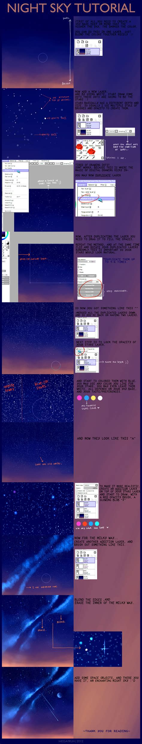 tutorial video digital night sky tutorial by megatruh on deviantart