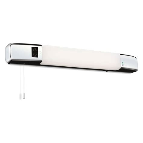 firstlight slimline led bathroom wall light in polished
