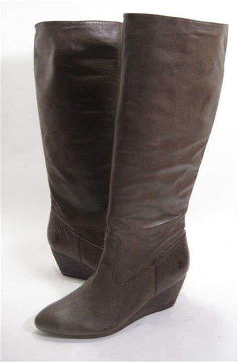 frye high heel boots frye s knee high high heel wedge boot