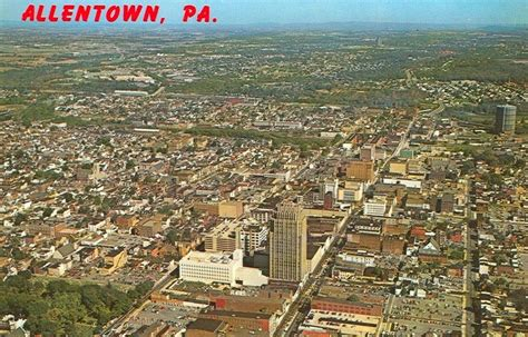 The Floor Show Bethlehem Pa by Aerial View Of Allentown 1960s Lehigh Valley Pa