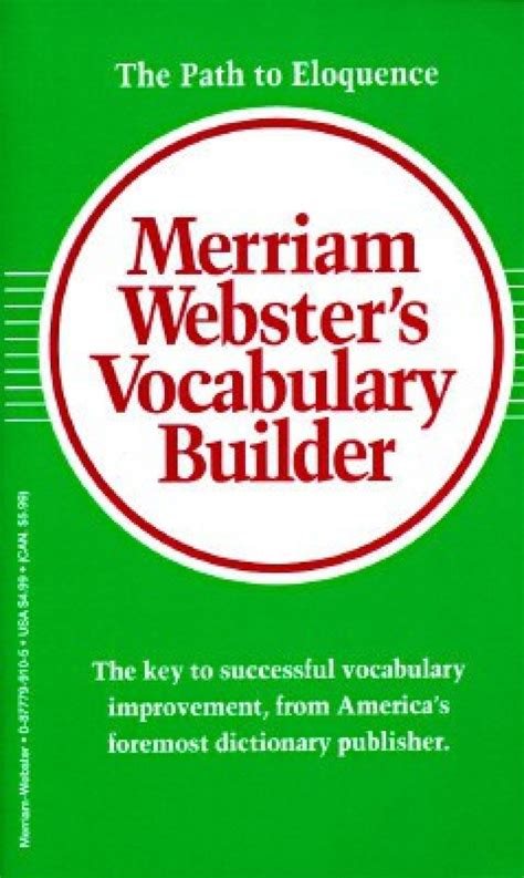 Merriam Webster S Vocabulary Builder Buy Merriam Webster