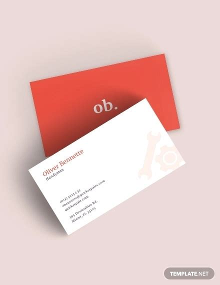 business card templates ai pages word