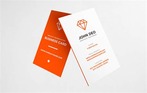 free vertical business card template psd 30 free vertical business card mockups psd templates