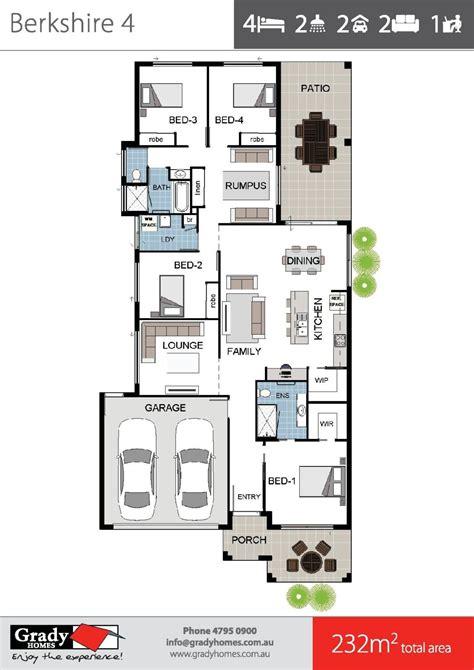 berkshire floor plan berkshire 4 large 4 bedroom house floor plan townsville