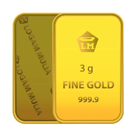 Logam Mulia Lm Antam 3 Gram jual antam logam mulia emas 3 gram harga