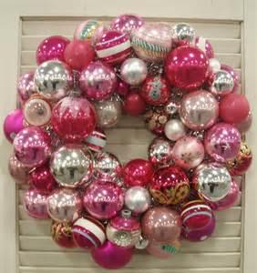 vintage glass ornament wreath christmas pinterest
