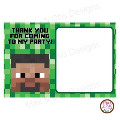 minecraft printable thank you cards 88 best images about max otis designs minecraft