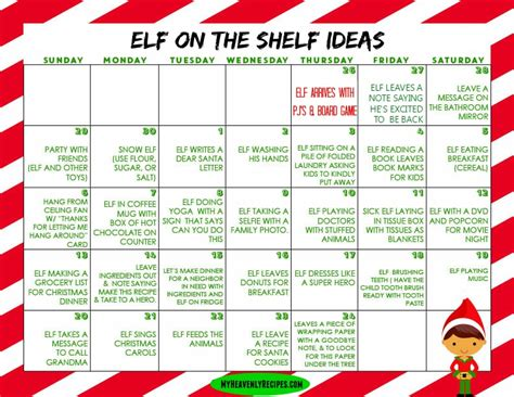 printable elf on the shelf image elf on the shelf ideas printable calendar my heavenly
