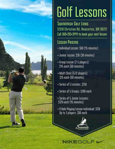 golf swing lessons swinomish golf links golf course