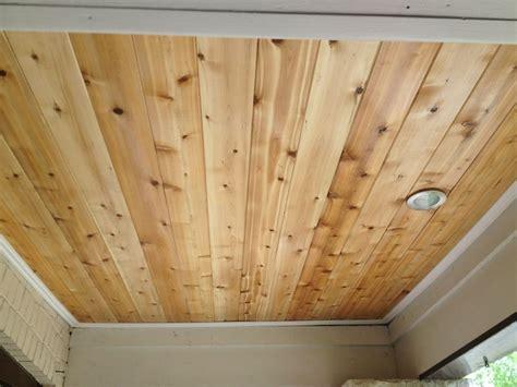porch ceiling rejuvenation tongue  groove cedar
