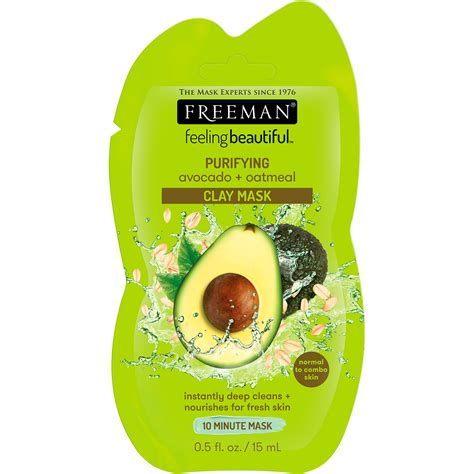 Nats Oatclay Mask freeman feeling beautiful avocado and oatmeal clay mask