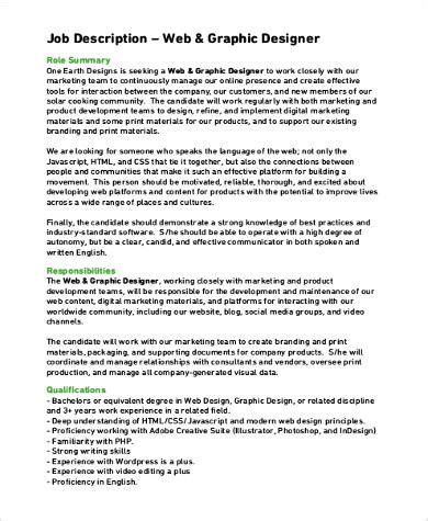 job design adalah pdf sle graphic design job description 9 exles in pdf