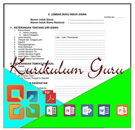 format buku kasus siswa smp download format buku induk siswa semua jenjang tk sd