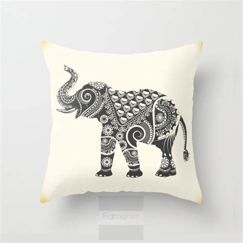 Decorative Elephant Pillows by Elephant Throw Pillow Decorative Mandala Pillow Cover 18
