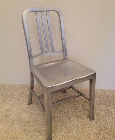 Emeco Furniture by Emeco Set Of Four Vintage Navy Chairs For Sale At 1stdibs