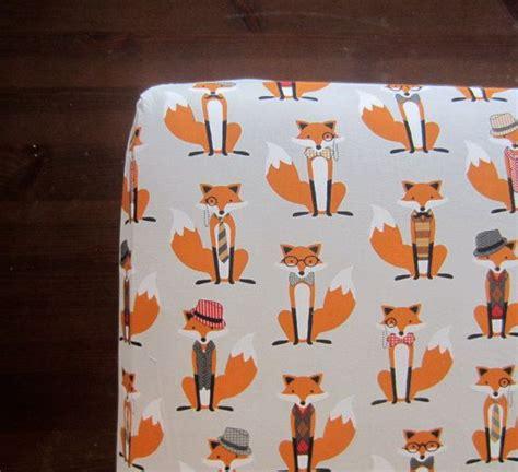 Wee Ones Nursery by What Does The Fox Say Crib Sheet Fox Crib Sheet
