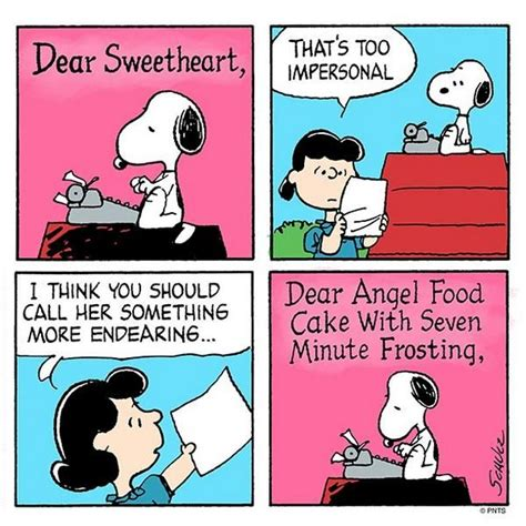 Smile Novel Loveable a letter by snoopy today s comic
