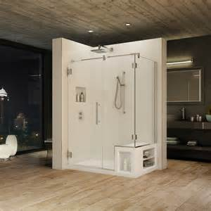 alessa and urbana fleurco s shower bases with seat and