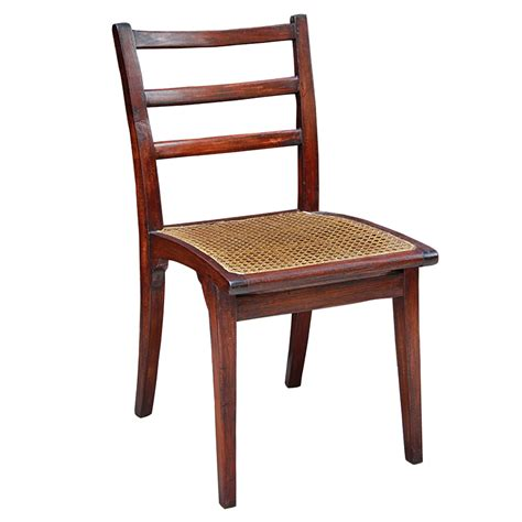 Colonial Dining Chairs Colonial Burmese Teak And Rattan Dining Chairs