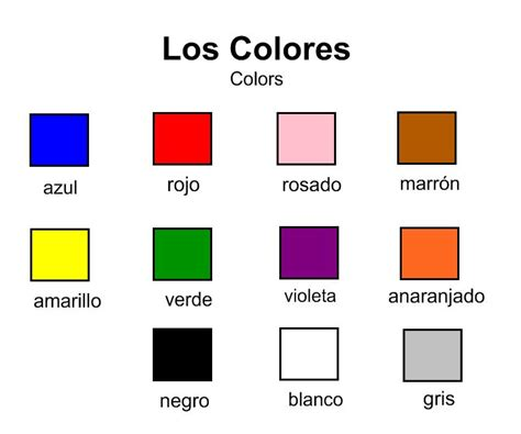 basic colors list how to say colors in spanishdictionary