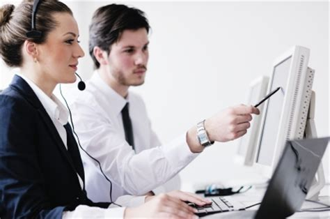 Service Desk Officer Business Working In Customer And Helpdesk Office Erp Software