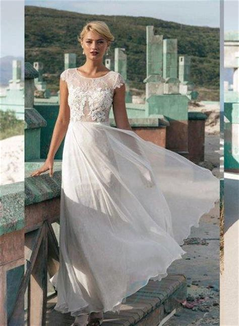 Light Wedding Dresses by Jw16060 Light And Airy Lace Cap Sleeves Summer
