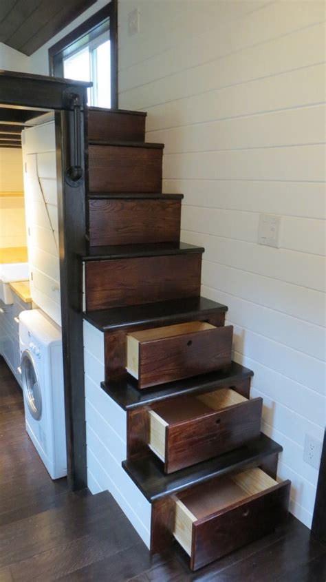 Search The Upstairs Drawers Of A House by Loft Tiny Cottage On Wheels With Floor Storage