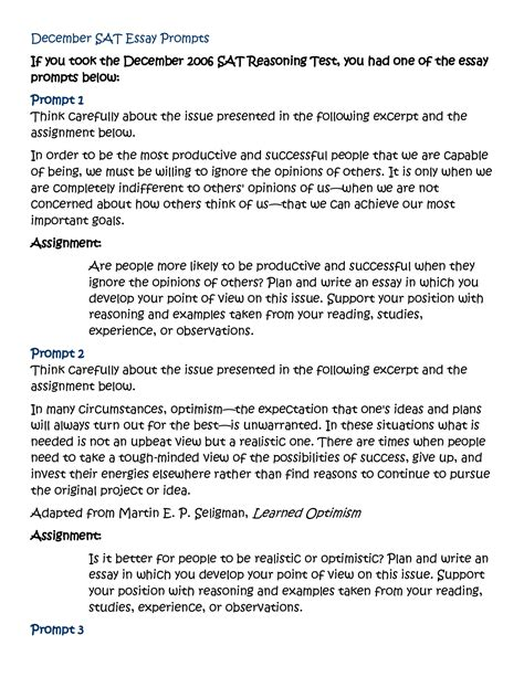 Sat Essay Question Exles by Sle Sat Essay Questions The Sat Essay Overview Article Khan Academy Ayucar