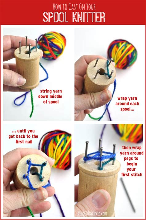 how to start a new of yarn knitting how to make your own spool knitter