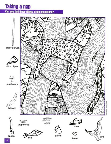 printable animal hidden pictures hidden pictures coloring page look closely search it